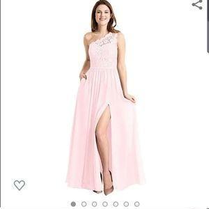 Pale pink, size 6, one shoulder dress